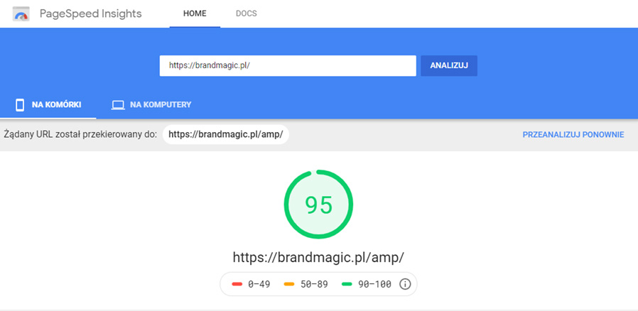 PageSpeed Insights od Google.